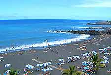 Photograph Tenerife black sand beach