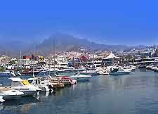 Image of boats moored in one of Tenerife's marinas