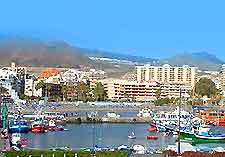 View of the resort of Los Cristianos, Tenerife