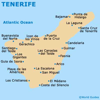 Small Tenerife Map