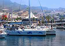 Picture of a catamaran in a Tenerife marina