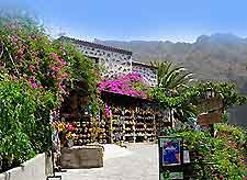 Image of shopping in the mountain village of Masca