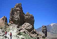 View of rock structures at Teide National Park, Tenerife