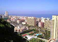 Aerial view of the Tenerife town of Puerto de la Cruz