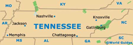 Tennessee TN State map