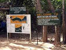 Photo of entrance to the Abuko Nature Reserve