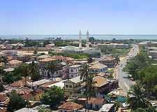 Aerial cityscape view of Banjul