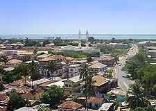 Aerial cityscape view of Banjul