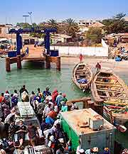 Picture of small ferry boats in Bakau