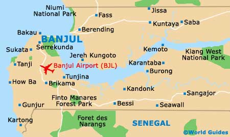 Gambia On Africa Map.The Gambia Maps And Orientation The Gambia Western Africa
