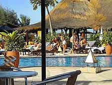 Image of hotel swimming pool at outside bar