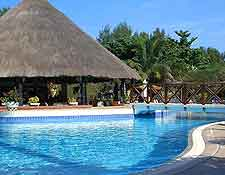 Picture showing hotel pool
