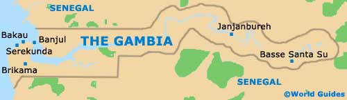 Small The Gambia Map