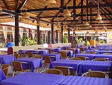Picture showing tables awaiting evening diners