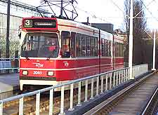 Picture of city tram in action
