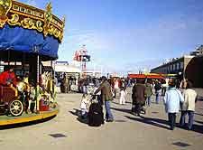 Photo of fairground at the resort of Scheveningen