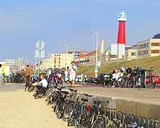 Picture of bicycles parked at Scheveningen