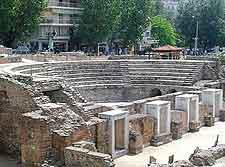 Ancient Roman Agora photo, showing the amphitheatre