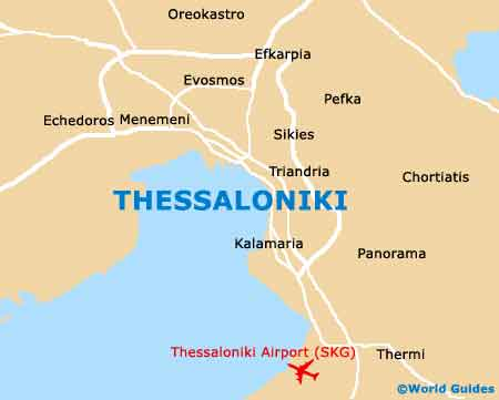 Small Thessaloniki Map