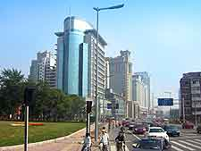 City photo showing modern buildings