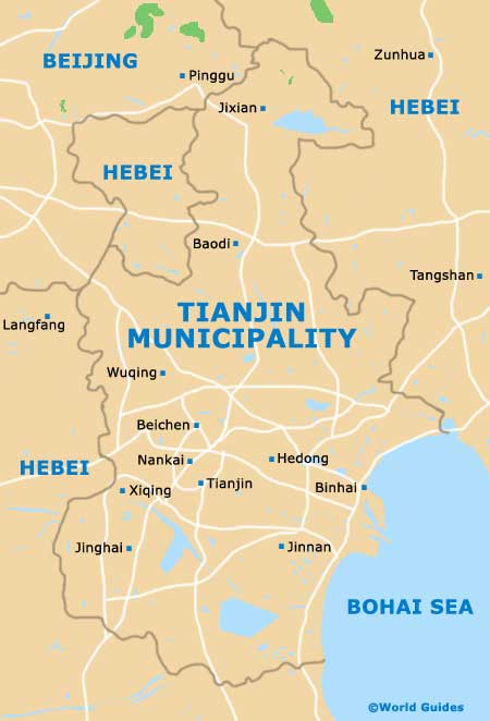 Tianjin Municipality Map