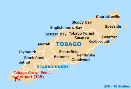 trinidad south west map of the republic of trinidad and tobago map of