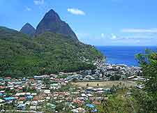Aerial picture of the stunning Saint Lucia shore