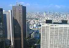 View across the city of Tokyo