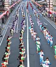 Picture of parade at the Hachioji Festival