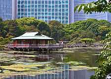Picture showing the central Hama Rikyu Garden