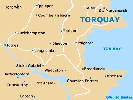 Torbay Maps and Orientation: Torbay, Devon, England on