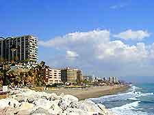 Bajondillo Beach coastline view