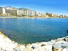 Photograph showing a beach area of Torremolinos