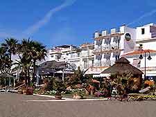 Photo of beachfront dining establishments