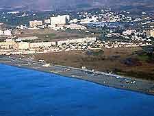 Aerial view of Los Alamos Beach