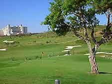 View of a golf course near Malaga