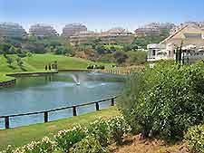 View over a golf course near Marbella