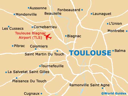 Toulouse map