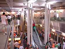 Interior picture of a metro station