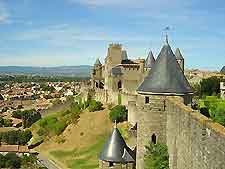 Picture of historical Carcassonne from above