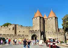 Photo of central Carcassonne