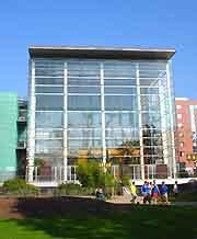 Photo of the city's modern Palais des Congres