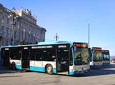 Trieste Airport (TRS) Directions and Car Rental: Photo of city bus