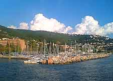 Trieste Information and Tourism: Photo of the coastline taken in the summer