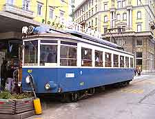 Picture showing historic city tram
