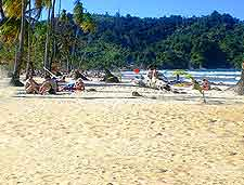 View of Maracas Beach in the summer