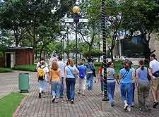 Image of shoppers in Port of Spain