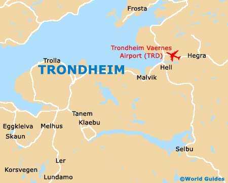 Trondheim Maps And Orientation Trondheim SorTrondelag Norway - Norway map world