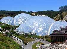 Aerial picture of the Eden Project
