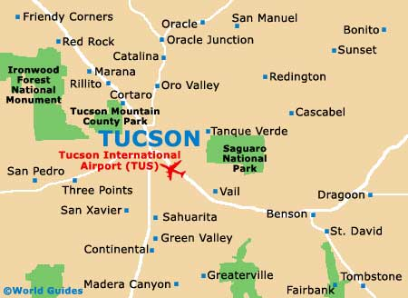 Tucson Maps and Orientation: Tucson, Arizona - AZ, USA